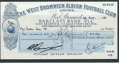 wbc. - CHEQUE - USED -1980's -CH04-  BARCLAYS BANK PLC - WEST BROMWICH ALBION FC