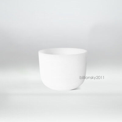 Perfect Pitch C Root Chakra Frosted Quartz Crystal Singing Bowl 10""
