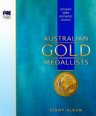 Australian Gold Medallists 2000 Olympics Stamp Album With New Stamp Sheets (X31)