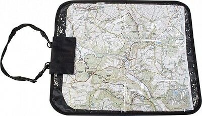 Highlander Deluxe Map Case Cover Walking Hiking Black Clear View
