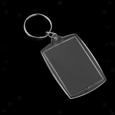 10pcs Rectangle Blank Insert Photo Picture Frame Key Ring Keychain 4*5.6CM