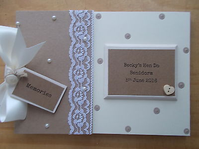 Personalised Hen Night Guest Book Scrapbook Memory Book Gift QUICK POSTAGE