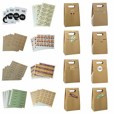 Hand made Paper Labels Gift Love Kraft Craft Stickers Packaging Scrapbooking ML