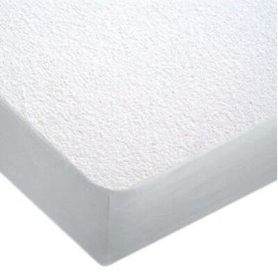 """Waterproof Terry Towel Mattress Protector Extra Deep Fitted Sheet 12"""" - Double"""