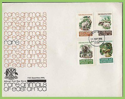 K.U.T. 1975 Rare Animals set on First Day Cover