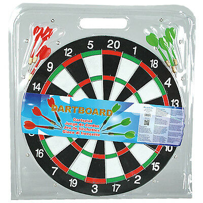 Portable Wall Hanging Double Sided Dartboard Darts Indoor Outdoor Fun Game Set