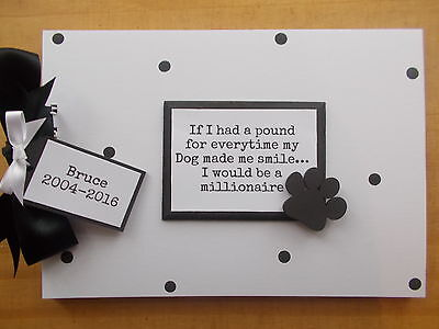 Dog Pet Photo Scrapbook Memory Book Any Wording personalised QUICK DISPATCH