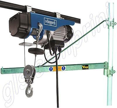 Scaffold Electric Lifting Hoist 250/400 Kg Scheppach Swing Arm