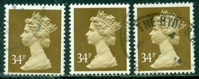 Great Britain Sg-X920, Scott # Mh-149 Machin Used, 5 Stamps, Great Price!