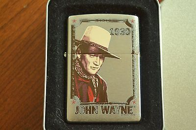 ZIPPO Lighter, 24073 John Wayne 1939, Brushed Chrome, 2007, Sealed M1137