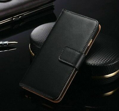 Luxury Genuine Leather Flip Stand Wallet Case Cover For Samsung Galaxy/ iPhone