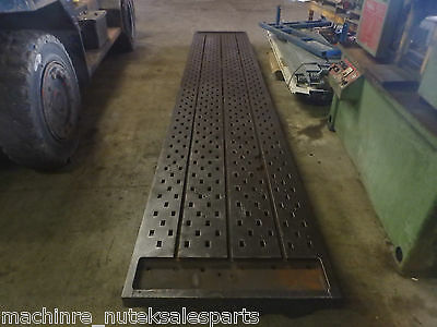 "208"" x 36""x 8"" Steel Acorn Welding T-Slot Table Cast Iron Layout Plate Fixture"