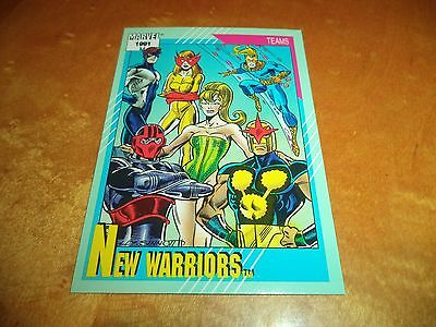New Warriors # 156 - 1991 Marvel Universe Series 2 Impel Base Trading Card