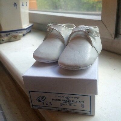 Handcrafted Italian Leather Baby Shoes from Rudin Needlecraft | sz 0