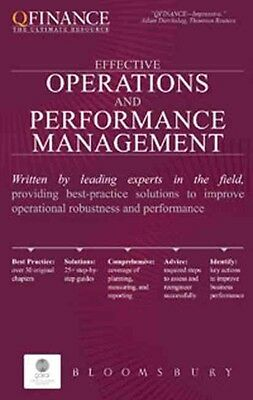 Effective Operations and Performance Management by Bloomsbury Hardcover Book (En