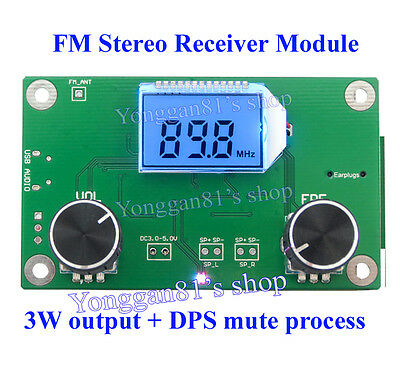 new DSP & PLL Digital Stereo FM Radio Receiver Module 87-108MHz with Serial