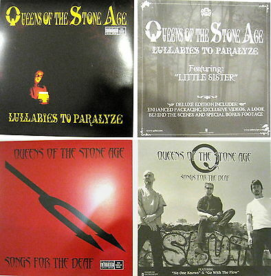 Queens Of The Stone Age Lullabies Paralyze Songs for Deaf set of 2 promo posters