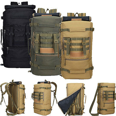 50L Military Tactical Backpack Outdoor Hiking Camping Travel Racksack Waterproof