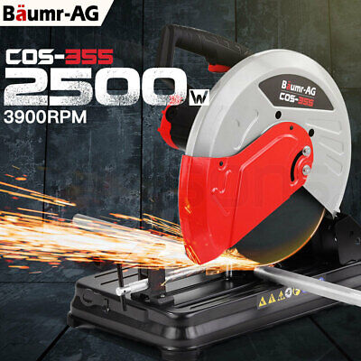 NEW BAUMR-AG 355mm Metal Cut Off Drop Saw - Electric Chop Demolition Industrial