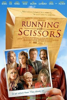 RUNNING WITH SCISSORS MOVIE POSTER Original 27x40 Both Version A & B Included !