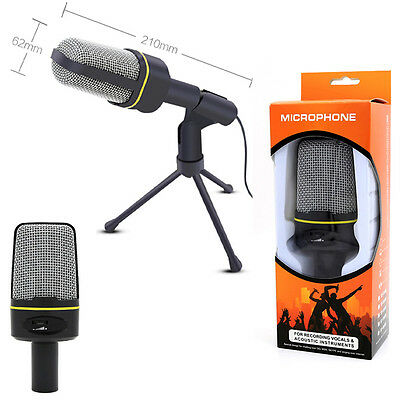 Professional 3.5mm Studio Microphone Mic For Skype Podcast Desktop PC Macbook