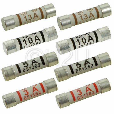 8PC Domestic Household 3A Fuse Plug Mains 5A Cartridge Fuse UK 10A  Standard
