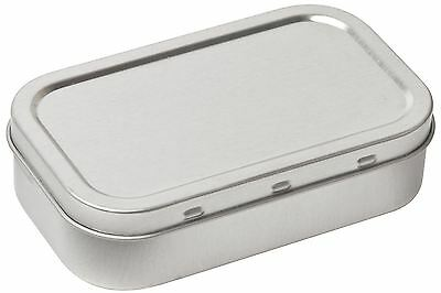 Tobacco Tin 1oz / 50ml Silver