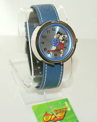 True Vintage Tazuka Astro Boy Anime Mystery Blue Dial Watch New 2003 NOS Tags