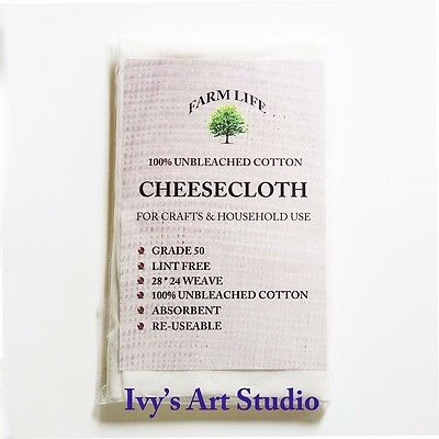 NEW Unbleached Cotton Muslin Cheesecloth 1.8m Food Preparation Butter Straining