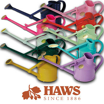 0.7 Litre Haws Indoor Handy Plastic Watering Can Various Colours Brass Rose Head