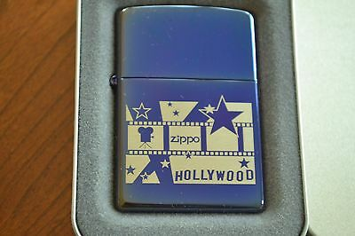 ZIPPO Lighter, 20631 - Hollywood Projector, Sapphire, 2003, Sealed, M1145