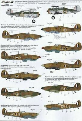Xtradecal X72161 1/72 The Battle for Malta RAF Model Decals