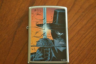 ZIPPO Lighter, Zorro, Satin Chrome, Sealed, M1148