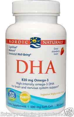 New Nordic Naturals Dha Omega 3 Cognition Memory Emotional Well-Being Softgels