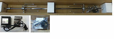 PREMIUM BBQ Grill Universal Rotisserie Spit Kit Gas Charcoal New With Motor