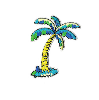 Palm Tree - Tropical - Beach - Embroidered Iron On Applique Patch