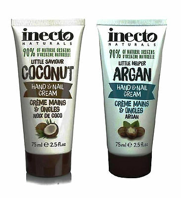 Inecto Naturals 90% of Natural Origins Hand & Nail Cream Argan Coconut 75 ml