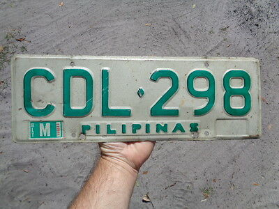1980's Pilipinas Philippines License Plate Auto Tag CDL-298