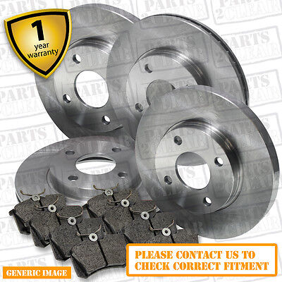 Peugeot 307 2.0 HDi Front Rear Brake Pads Discs Set 266mm 246mm 90 08/01- Hatch