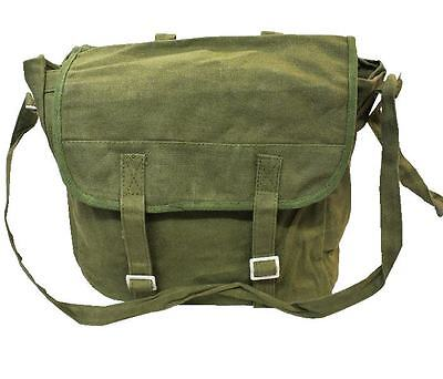 Olive Webbing Back Pack, Canvas Rucksack / Shoulder Bag A4