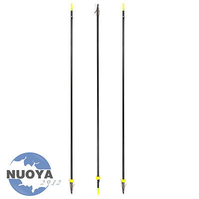 Black Archery Bow Fishing Hunting Arrows W/ Broadheads and Safety Slides 3 piece