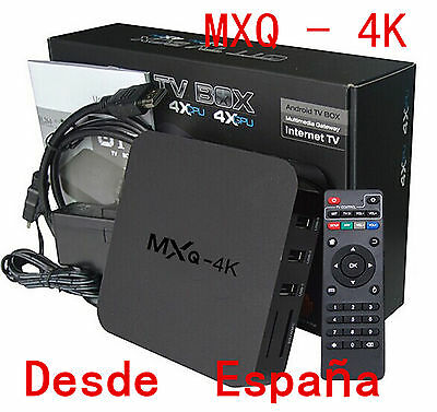 MXQ 4K Smart HD TV BOX Android 8G WiFi Media Player XBMC Equipos DLNA Amlogic 4k