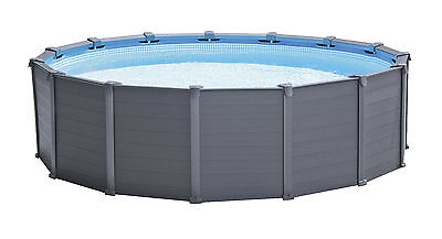 Intex Frame Pool Set Graphit Ø 478 x 124 cm  28382GN