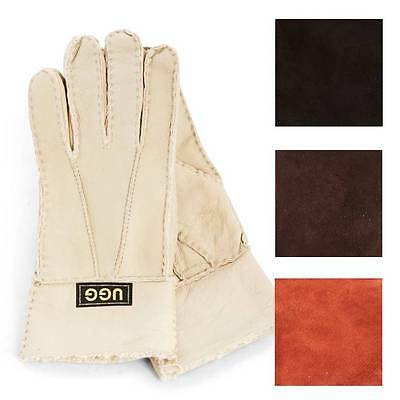 Originals Ugg Australia Sheepskin Suede Gloves Beige Tan Chocolate Black Womens