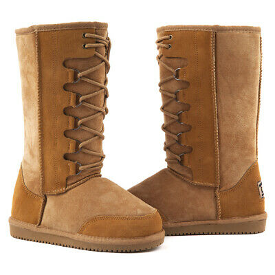 Originals Ugg Australia LaceUp Long Snow Boot Chestnut 9 10 11 12 13 Men Womens