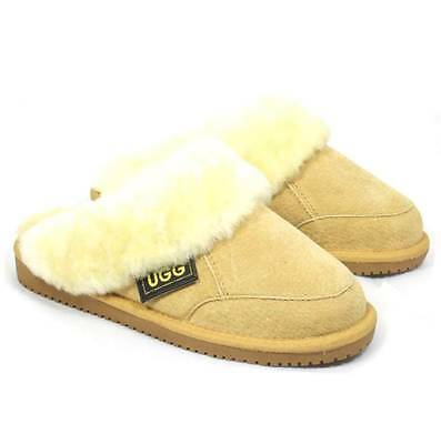 Originals Ugg Australia Sheepskin Chestnut Scuff Slipper Slide 6 7 8 9 Women Men