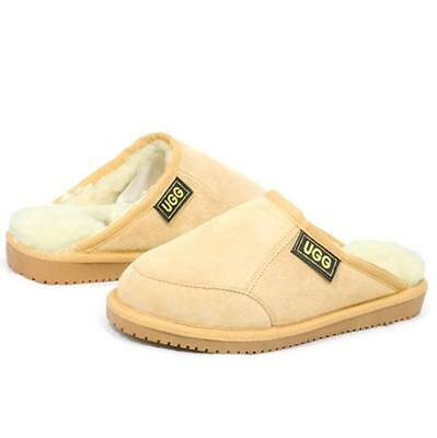 Originals Ugg Australia Sheepskin Chestnut Scuffs Slipper 6 7 8 9 10 11 12 Mens