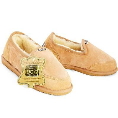 Originals Ugg Australia Sheepskin Low Cut Slipper 7 8 9 10 11 12 13 Mens Tan