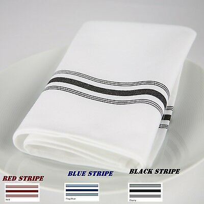 20 Bistro Stripe Restaurant Dinner Cloth  Napkins Catering Wedding Event Supply