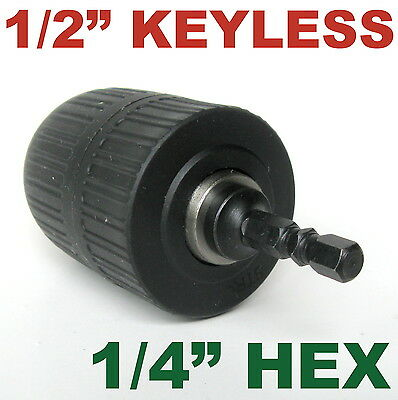 "1 pc keyless 1/16""-1/2"" Cap with 1/4"" Hex adapter Drill Chuck sct-888"